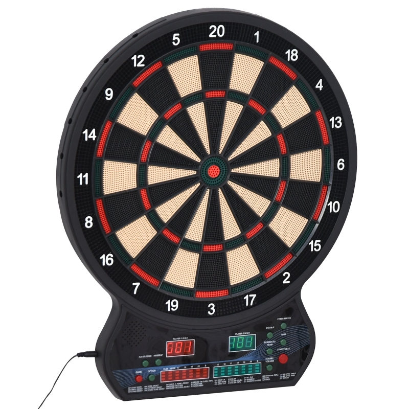HOMCOM Plastic LED Electronic Dartboard w/ 12 Darts