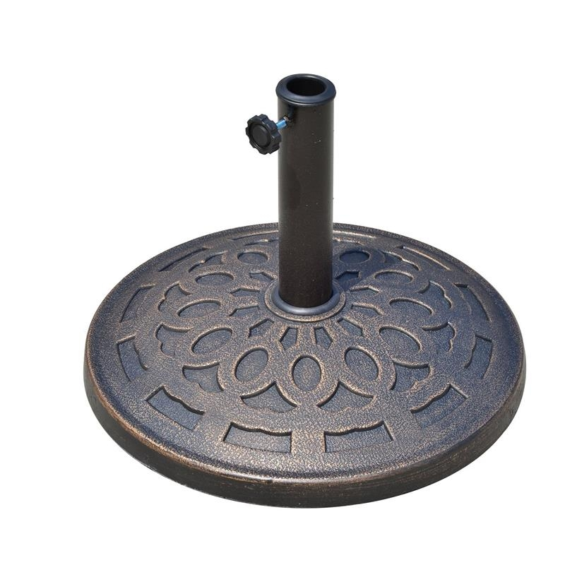 Outsunny 14 kg Umbrella Round Base-Bronze