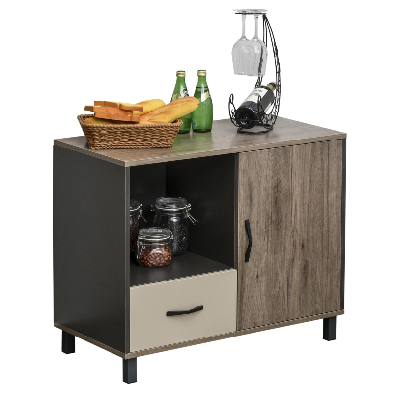 HOMCOM MDF 4-Compartment Sideboard Cabinet