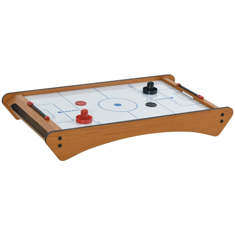 HOMCOM ABS Plastic Mini Air Hockey Table-Top Brown