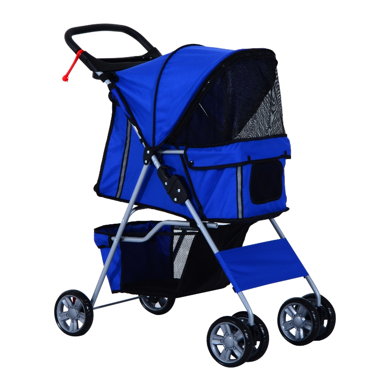 PawHut Dogs 600D Oxford Cloth Pram Blue - Suitable for Small Pets
