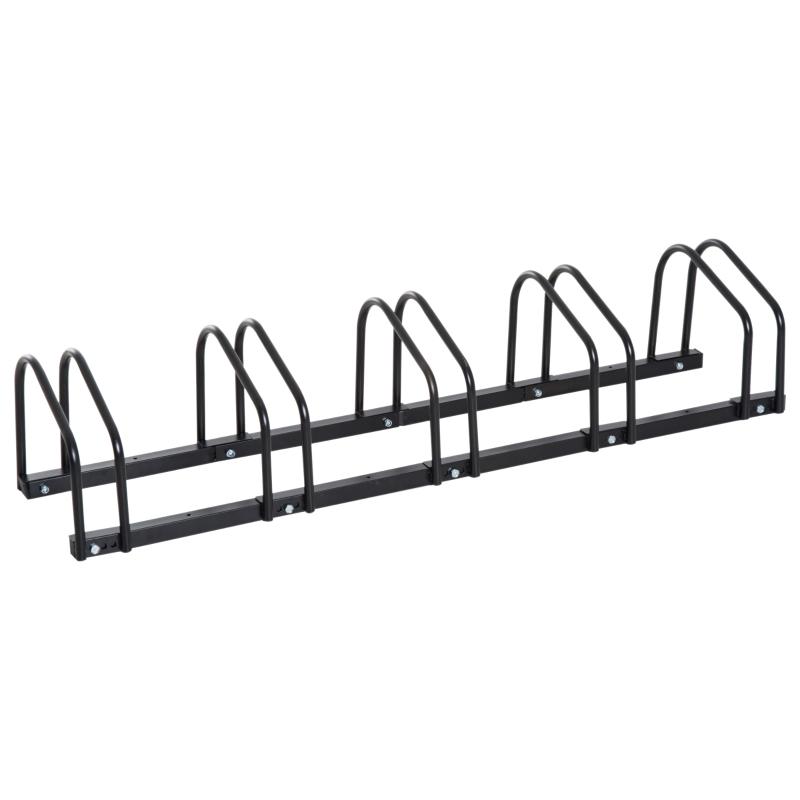 HOMCOM Bike Rack Bicycle Stand Bike Parking Rack, 130Lx33Wx27H cm, Steel-Black