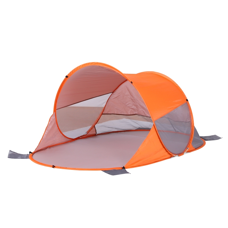 Outsunny Fibreglass Frame 2 Person Pop-Up Lightweight Camping Tent Orange