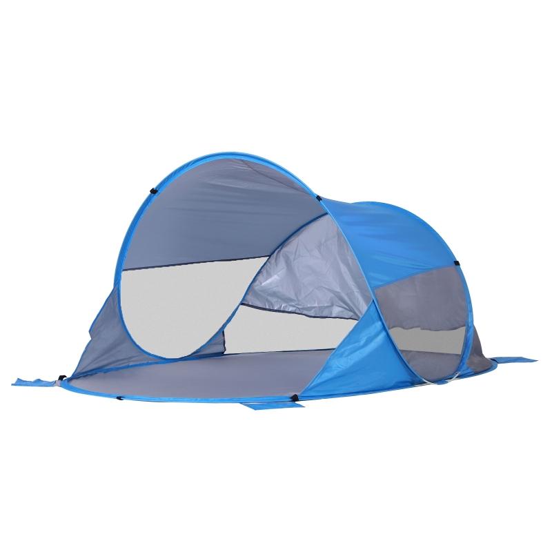 Outsunny Fibreglass Frame 2 Person Pop-Up Lightweight Camping Tent Blue