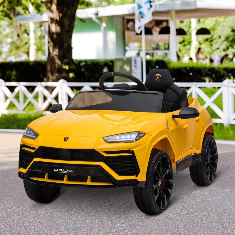 HOMCOM Lamborghini Urus 12V Kids Electric Ride On Car Toy w/ Remote Control