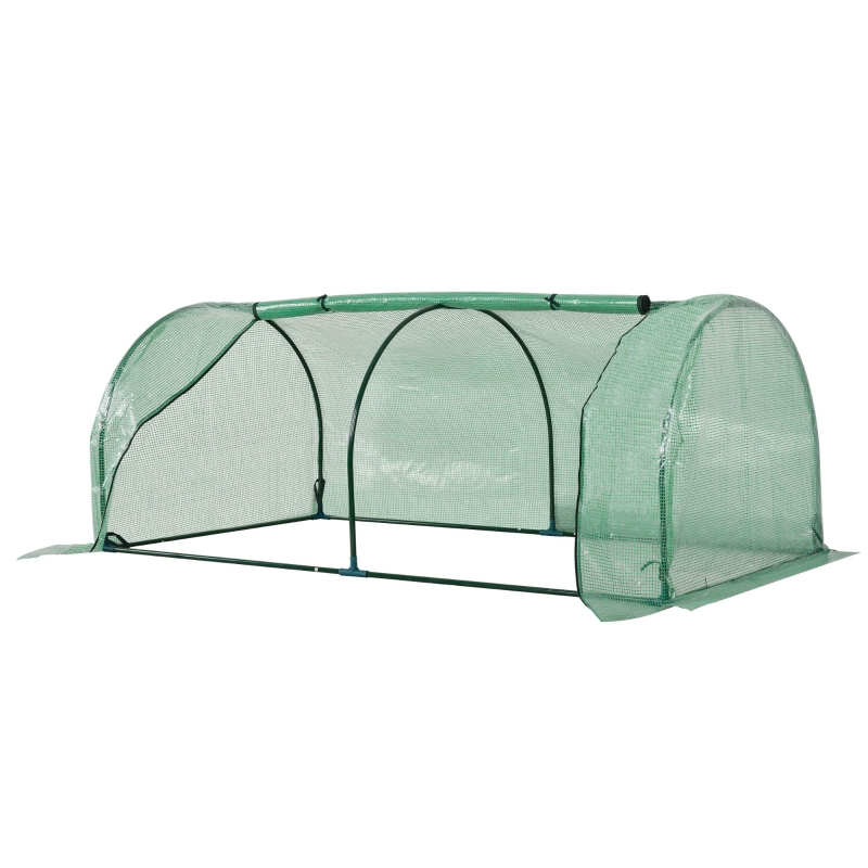 Outsunny Tunnel Greenhouse Green Grow House Steel Frame Garden Outdoor 200 x 100 x 80cm