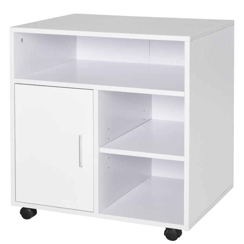 HOMCOM Particle Board 4-Compartment Storage Unit White