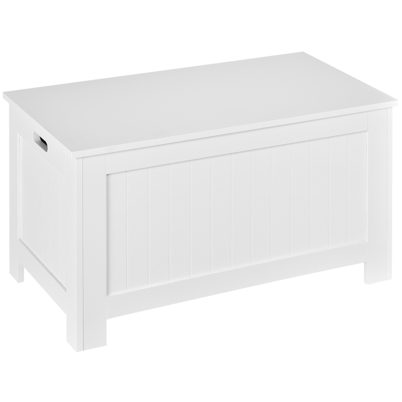 HOMCOM Large Storage Box Toy Chest Cabinet Unit Organizer with Lid & Safety Hinges