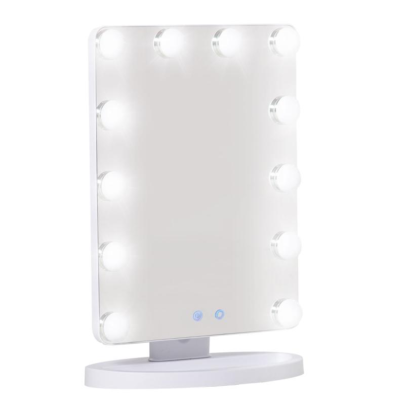 HOMCOM Hollywood Light Up Vanity Makeup Mirror W/ LED Lights for Makeup Dressing Table