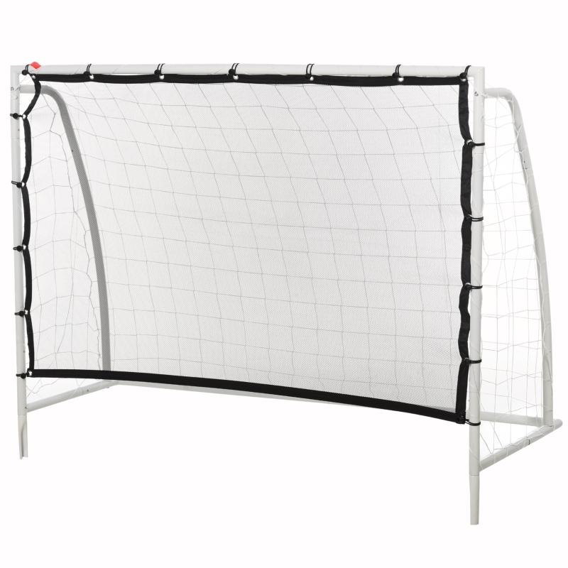 HOMCOM PE Net Weather Resistant Rebounder Sports Goal White