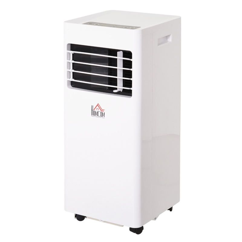 HOMCOM 7000BTU Portable ABS Air Conditioner w/ Remote Control White