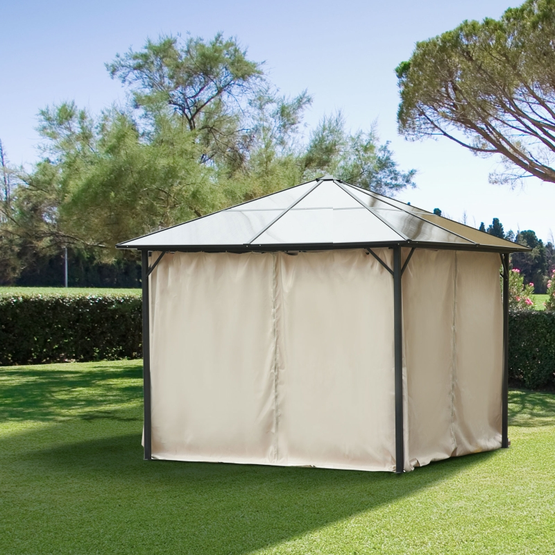 Outsunny 4 Pack Universal Gazebo Replacement Sidewalls Privacy Panel for 3 x 3m Canopy