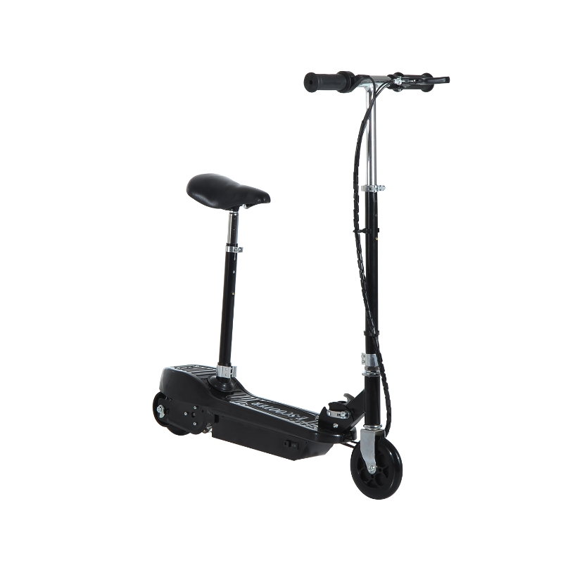 HOMCOM Motorized Electric Scooter, Rechargeable Battery-Black