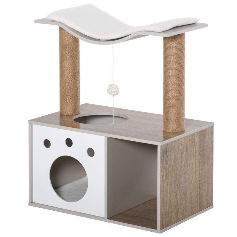 krabpaal klimboom voor katten met meerdere verdiepingen multifunctioneel jute