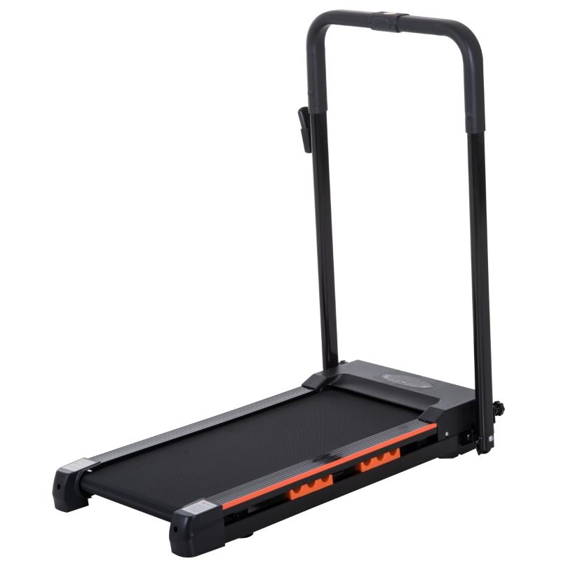 Elektrische loopband met LCD-display inklapbare fitnessapparaat 1-6 km/u staal