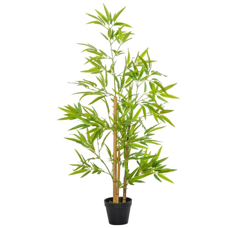 Kunstmatige bamboe kunstplanten decoratie kunstboom boomdecoratie 120 cm