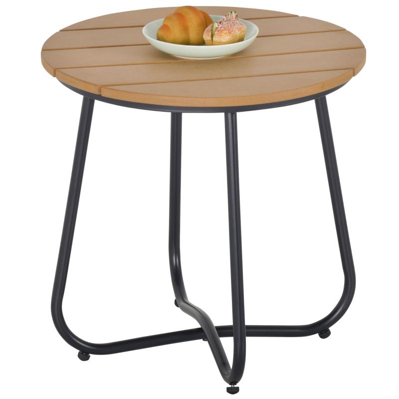 Tuintafel eettafel besteltafel tuin bistro woonkamer bruin Ø49 x 48 h cm