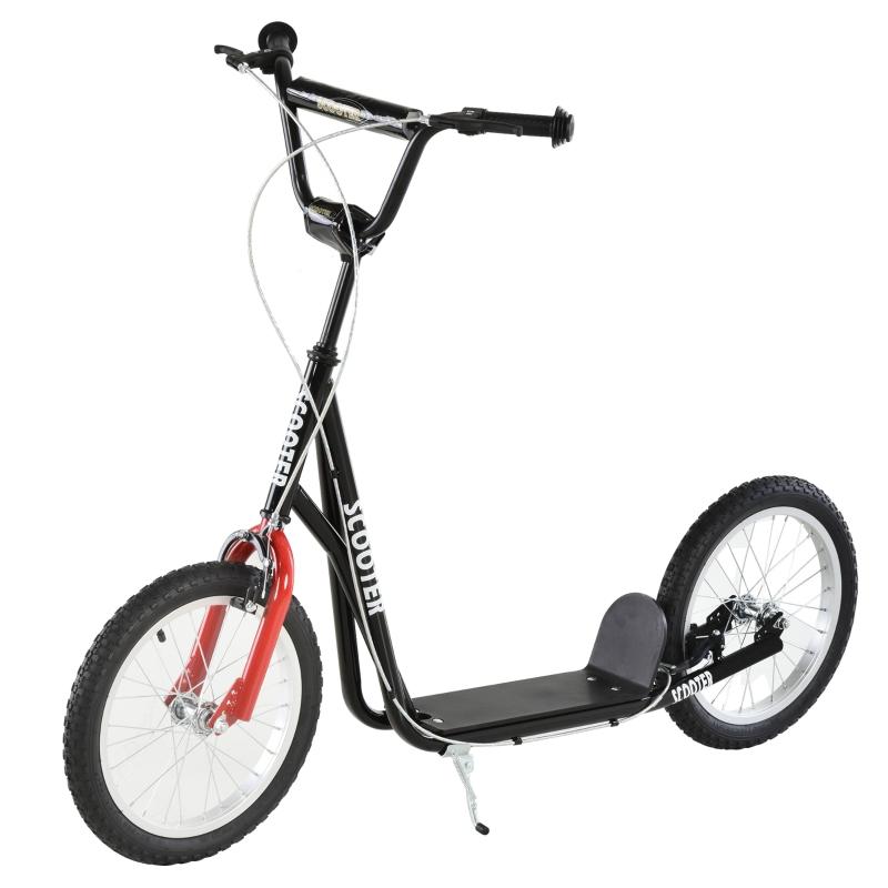 Step scooter stadsscooter kinderen luchtbanden verstelbare step aluminium wit