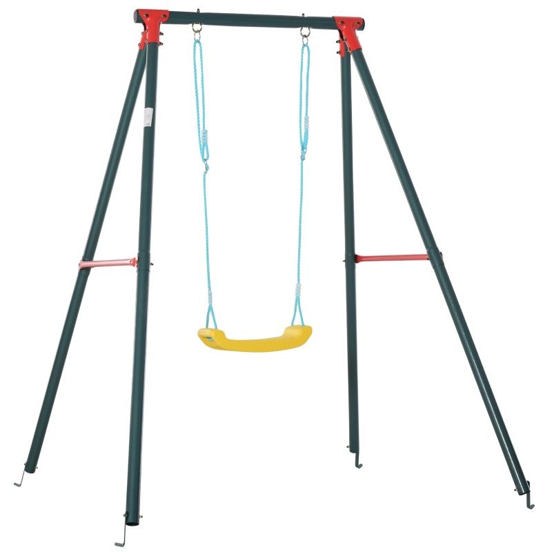 Kinderschommel tuinschommel schommelframe metalen frame 6-12 jaar