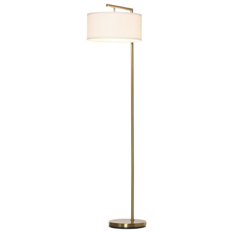 Vloerlamp staande lamp E27-fitting voor woonkamer metaal staal linnen