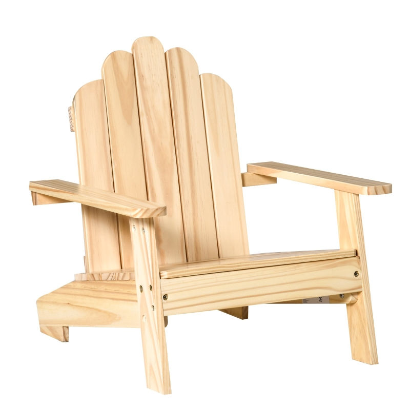 Adirondack tuinstoel kinderen tuinligstoel balkonstoel gemaakt van hout naturel