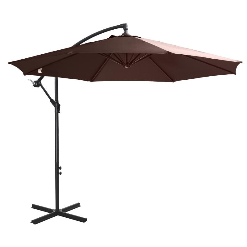 afneembare parasol zweefparasol zwengelparasol met handkruk, koffie