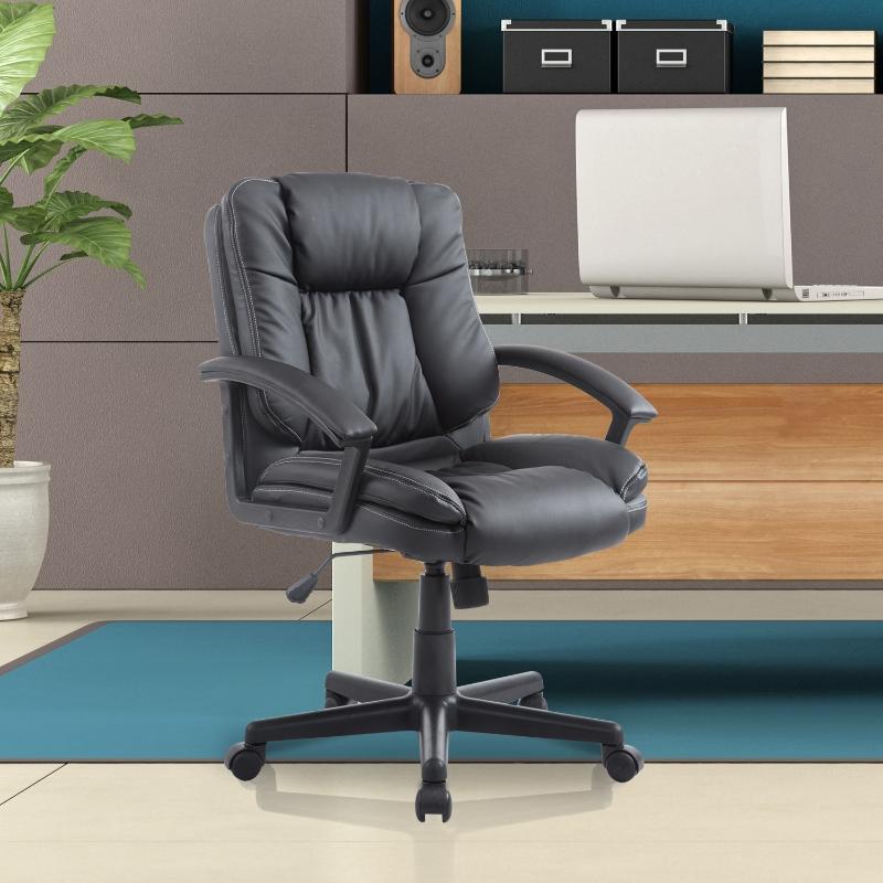 HOMCOM PU Leather Executive Office Chair-Brown