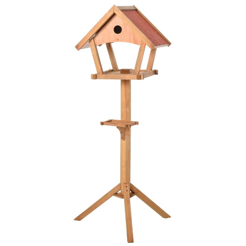 Vogelhuis houten vogelvilla voederhuis vogelhuis op staander vogelhuisje