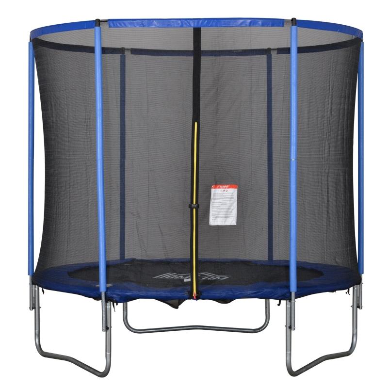 Trampoline met veiligheidsnet tuintrampoline staal Ø244 x 240 h cm