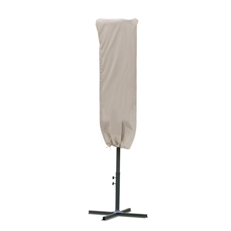 Beschermhoes voor zonnescherm weerbestendig winddicht Ø57 x 160 cm khaki