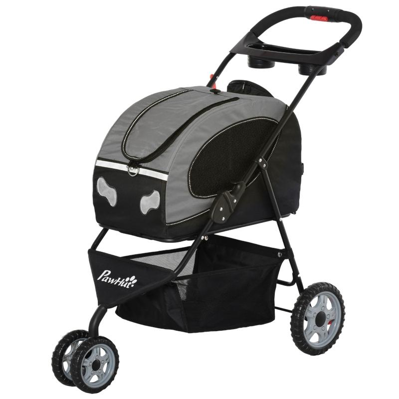 5-in-1 hondentrolley kattenbuggy hondendraagtas met wielen inklapbaar oxford