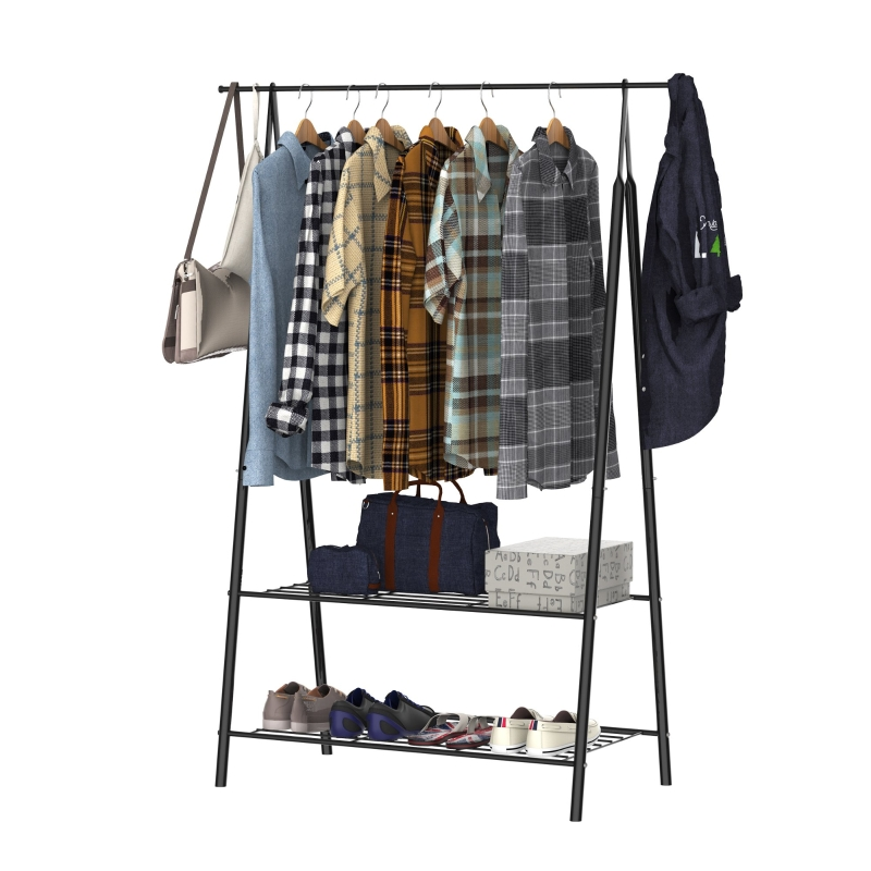 Kapstok met schoenenrek kledingrek kledingstang wasrek