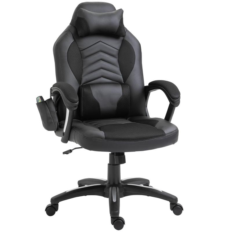 Bureaustoel sportstoel massagestoel draaistoel met warmtefunctie kantoor 2 kleuren