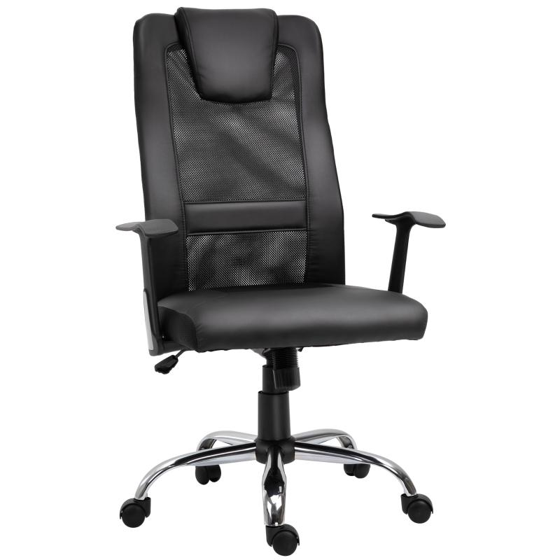 Vinsetto High Back Mesh Office Chair Swivel Ergonomic Task Executive Seat Adjustable Black