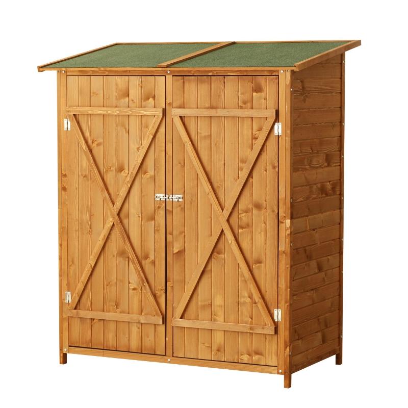 Gereedschapsschuur houten gereedschapsschuur tuinkast gereedschapskast tuinhuis dubbele deur