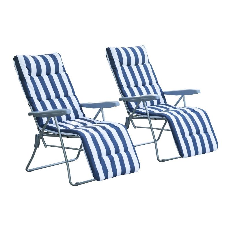 2 x klapstoel ligfauteuil ligstoel relaxstoel tuinstoel ligmeubel bekleding
