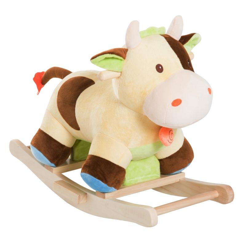 Kinderen schommel speelgoed baby schommeldier schommelpaard schommelkoe koe bruin