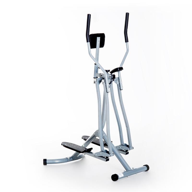 Crosstrainer elliptische trainer hometrainer ergometer met LCD-display staal zilver