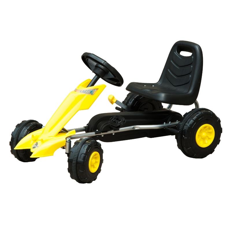 Homcom Pedal Go Kart Go Karting For Kids Children'S Go Karts Kids Pedal Cart Kettler Go Kart -Yellow/Black