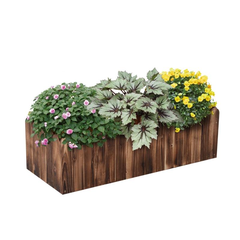 Outsunny Fir Plant Pot 100Lx 40Wx 30H cm