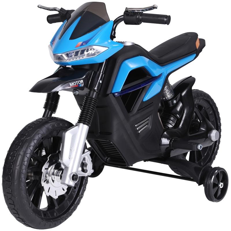 Kindermotor elektrische kindermotorfiets vanaf 3 jaar elektrisch voertuig PP blauw