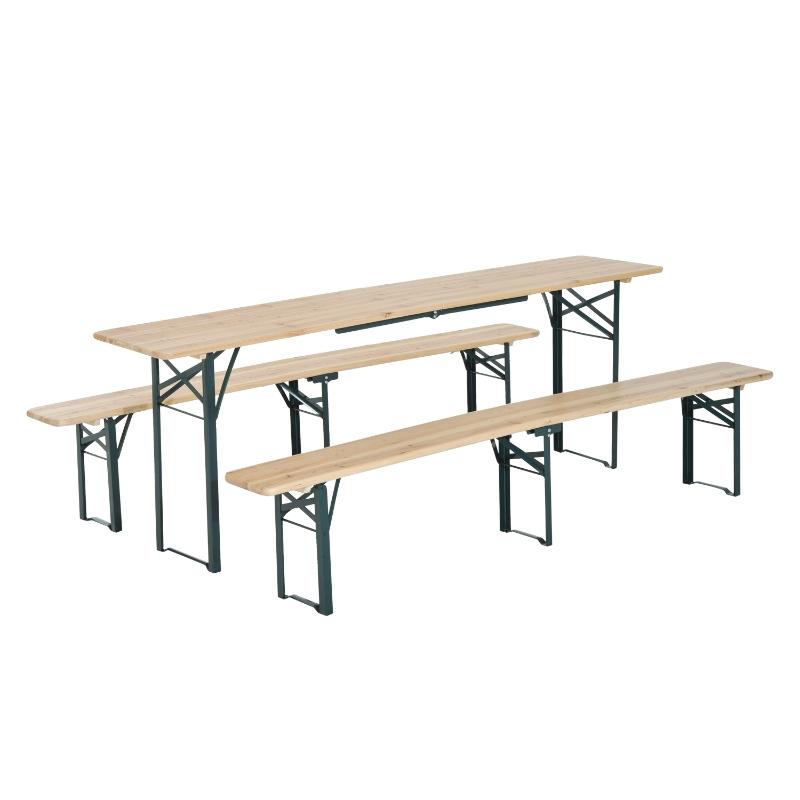Outsunny Steel Frame Portable Folding Picnic Table Bench Set Dark Green