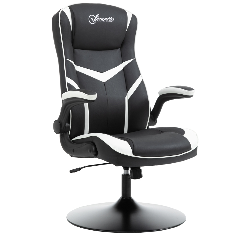 Vinsetto High Back Computer Gaming Office Adjustable Chair -Black/white