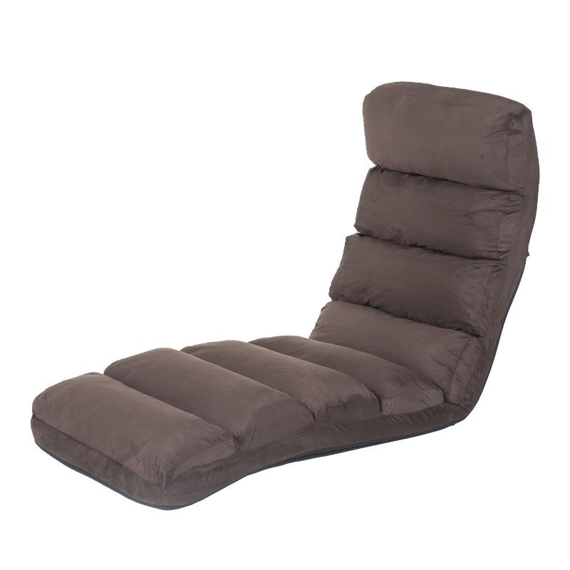 HOMCOM Folding Floor Sofa Bed W/ Pillow-Brown