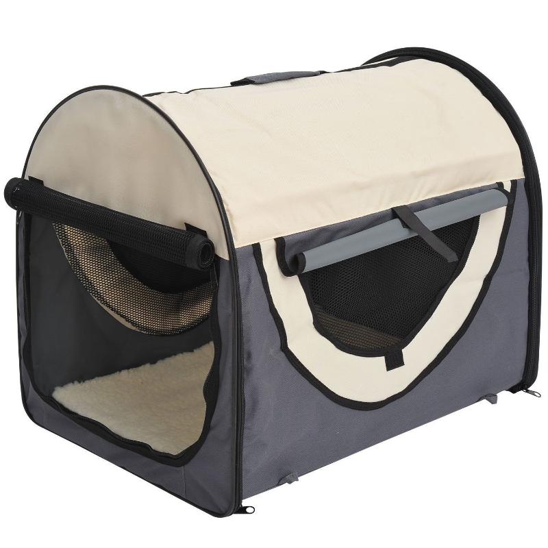 PawHut hondenbox inklapbare hondentransportbox dier 2 kleuren 5 maten