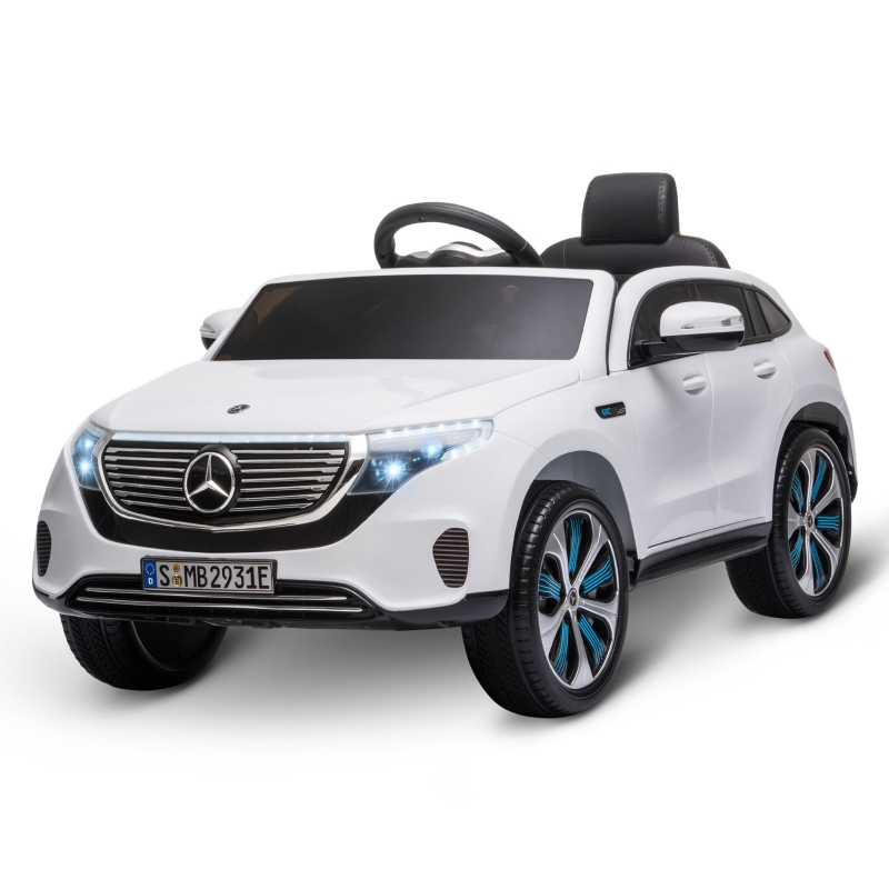 HOMCOM Benz EQC 400 12V Kids Electric Ride On Car Toy w/ Remote Control