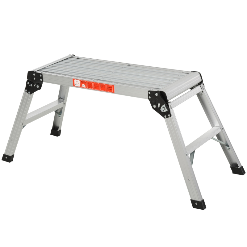 Aluminium opstapbank werkplatform opstapladder werkplatform steigerladder inklapbaar