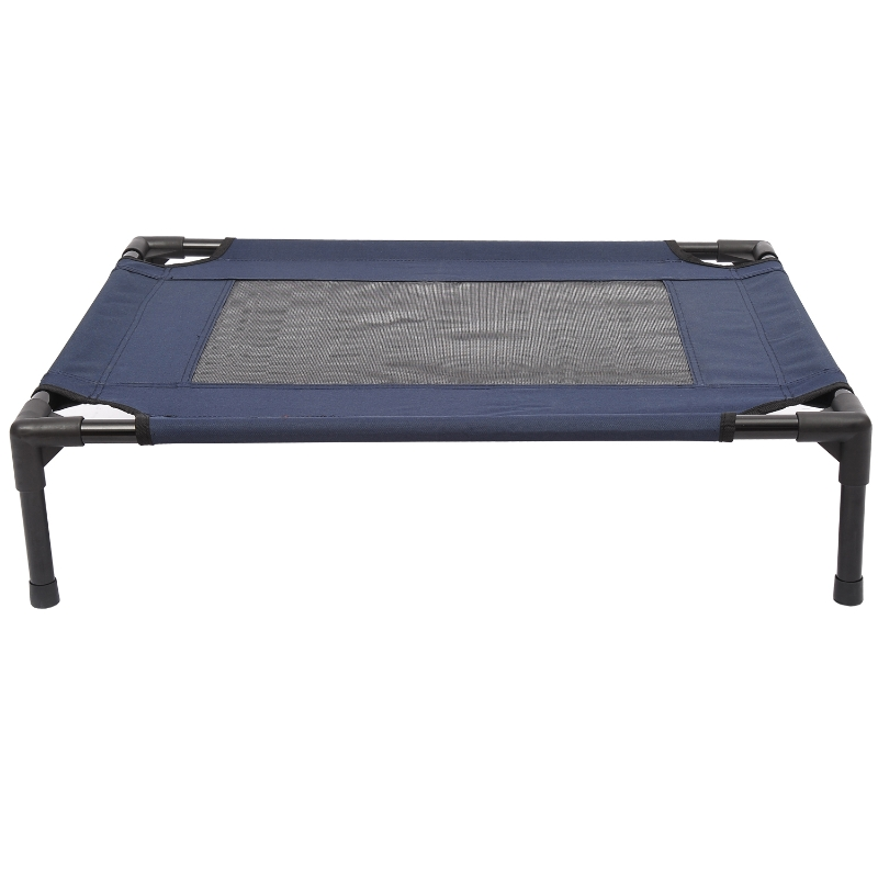 Pawhut Portable Pets Elevated Raised Cot Bed-Blue