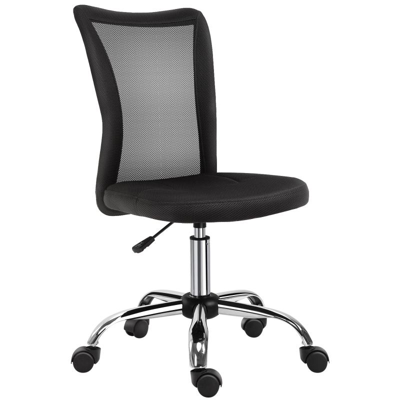 Vinsetto Mesh Ergonomic Home Office Chair w/ Wheels Black