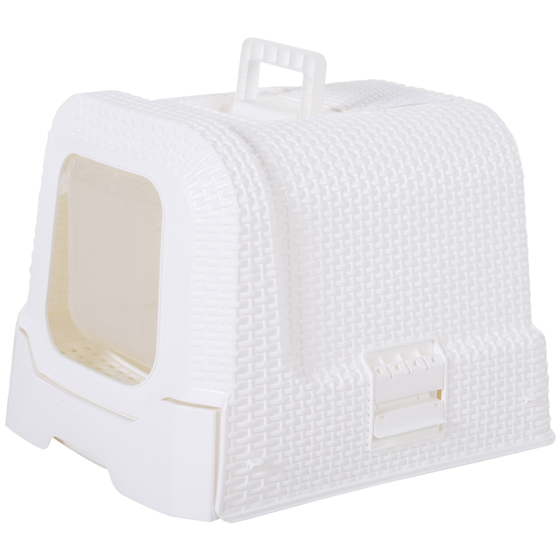 Large Litter Box Self Cat Toilet Fully Enclosed Kitten Pan With Scoop